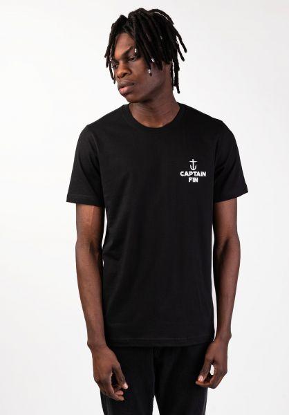 Captain Fin T-Shirts Harbor black vorderansicht 0320269
