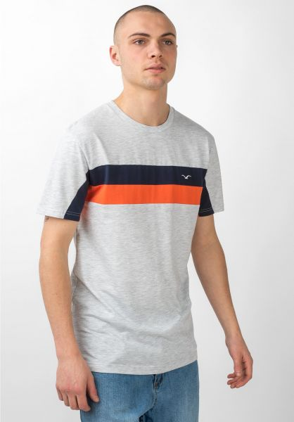 Cleptomanicx T-Shirts Faster lightheathergrey vorderansicht 0397450