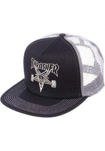 Thrasher Caps Skate Goat Embroided Mesh black-grey vorderansicht 0560298