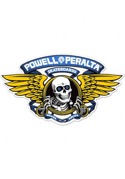 "Powell-Peralta Verschiedenes Winged Ripper 12"" Die-Cut Sticker blue Vorderansicht"