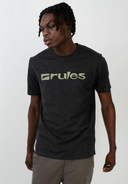 Rules T-Shirts Basic darkgreymottled vorderansicht 0365205
