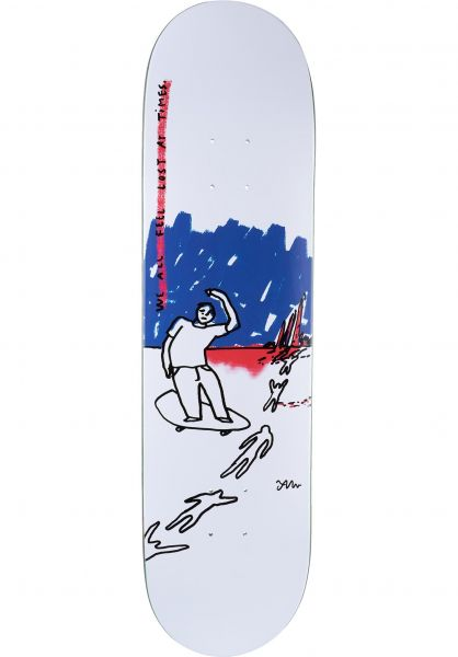 Polar Skate Co Skateboard Decks We All Feel Lost At All Times white vorderansicht 0262527