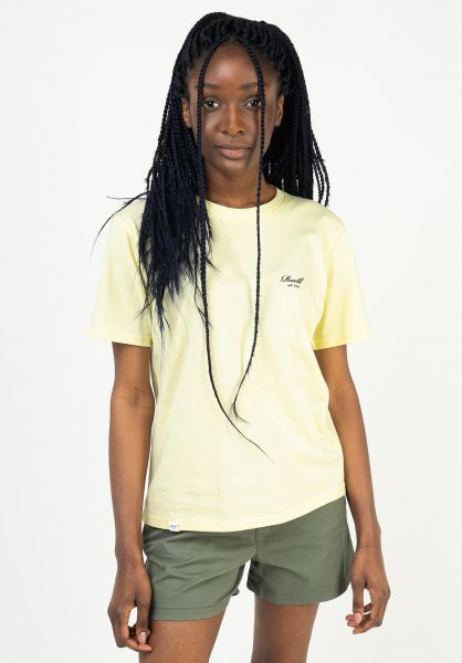 Reell T-Shirts Womens Logo lightyellow vorderansicht 0324098