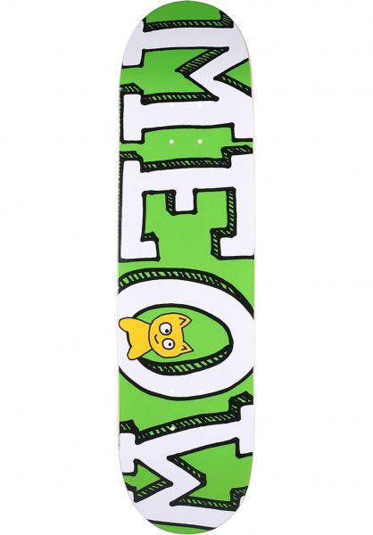Meow Skateboards Skateboard Decks Logo green vorderansicht 0117461