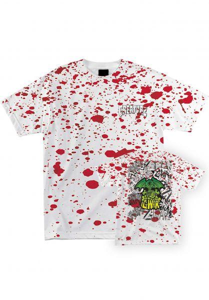 Creature T-Shirts Creature X Gwar blood splatter vorderansicht 0323264