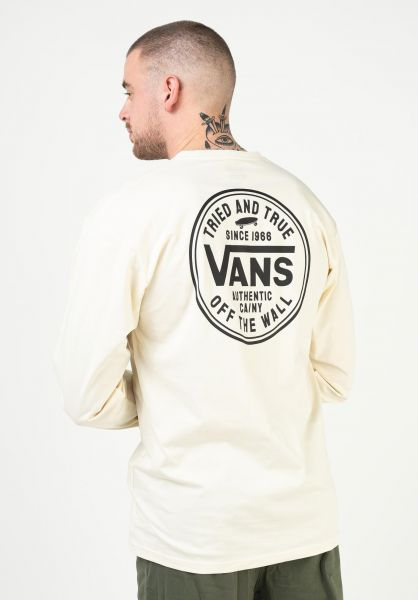 Vans Longsleeves Tried and True seedpearl vorderansicht 0384021