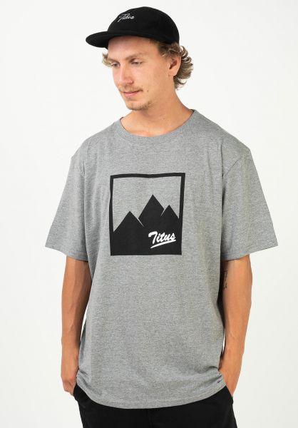 TITUS T-Shirts Jascha greymottled vorderansicht 0321826