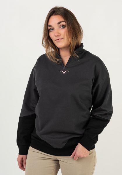Cleptomanicx Sweatshirts und Pullover Half phantomblack vorderansicht 0422969