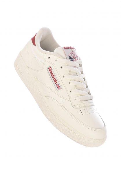 Reebok Alle Schuhe Club C 85 chalk-chalk-redemb vorderansicht 0612481
