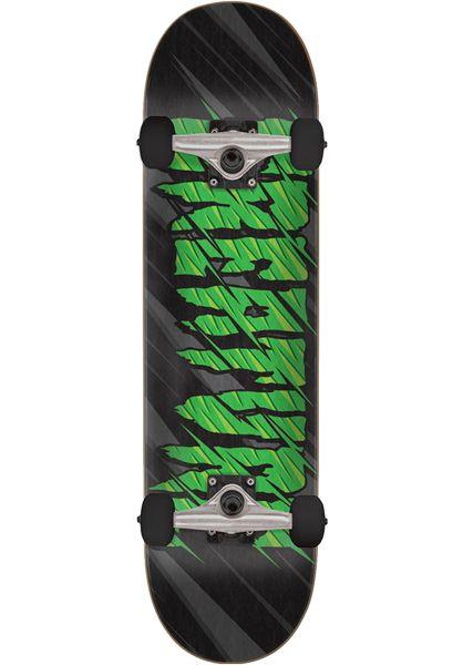 Creature Skateboard komplett Logo Slash black-green vorderansicht 0162016