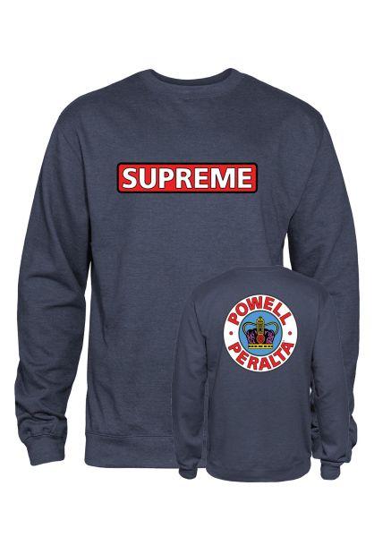 Powell-Peralta Sweatshirts und Pullover Supreme navy-heather vorderansicht 0422758
