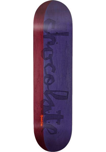 Chocolate Skateboard Decks Cruz OG Chunk Split red-purple vorderansicht 0262954