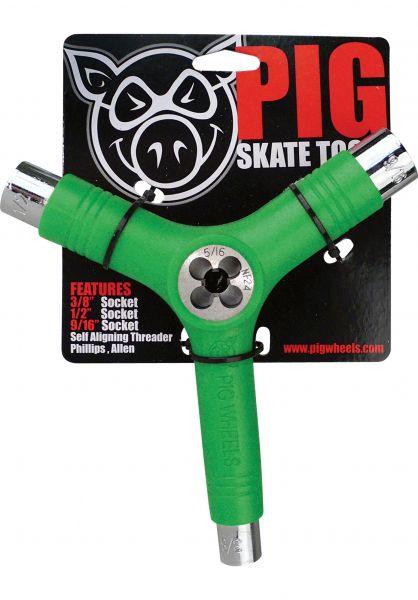 Pig Skate-Tools Tool inkl. Gewindeschneider green vorderansicht 0150222