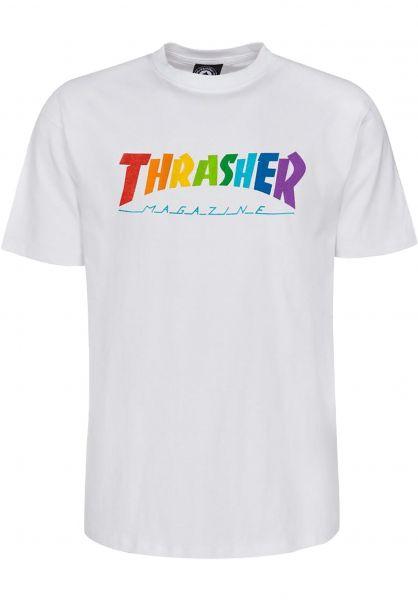 Thrasher T-Shirts Rainbow Mag white vorderansicht 0322663