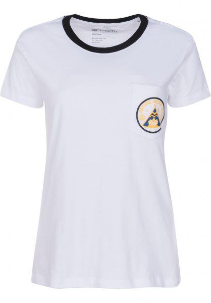 Element T-Shirts Teepee Ringer white Vorderansicht