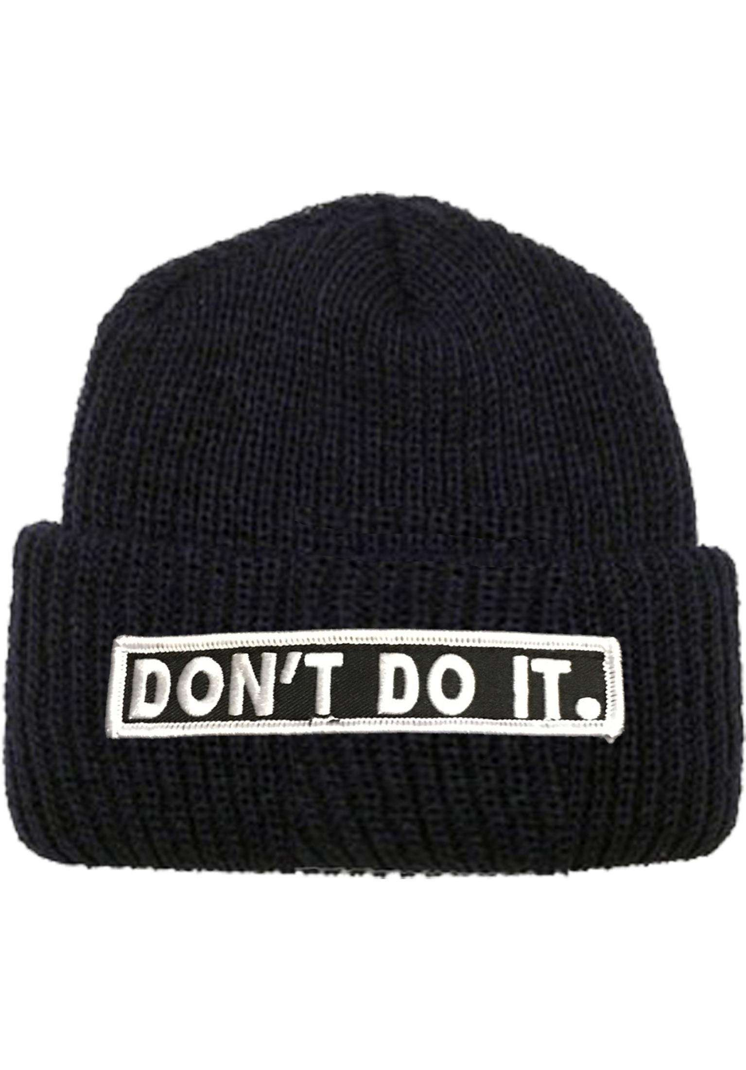 fcd335c7244 Don´t Do It Patch Fold Over Consolidated Beanies in black for Men ...