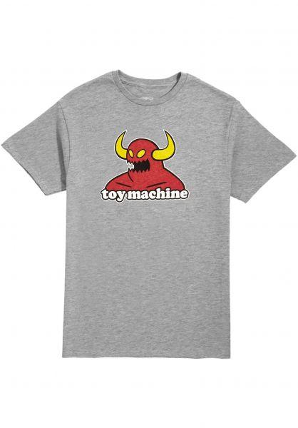 Toy-Machine T-Shirts Monster heather vorderansicht 0360310