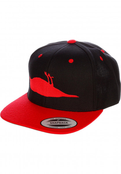 Atticus Caps Bird black-red Vorderansicht