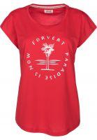 Forvert-T-Shirts-Clarkia-red-Vorderansicht