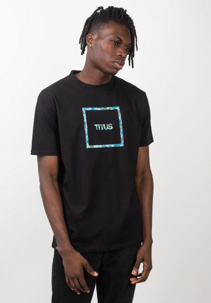 TITUS T-Shirts Typo Mosaik black vorderansicht 0399246