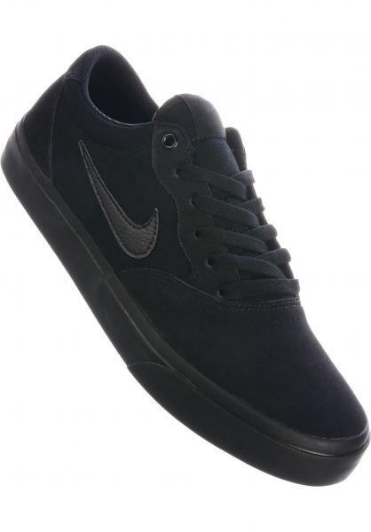 Nike SB Alle Schuhe Chron Solarsoft black-black-black vorderansicht 0604588