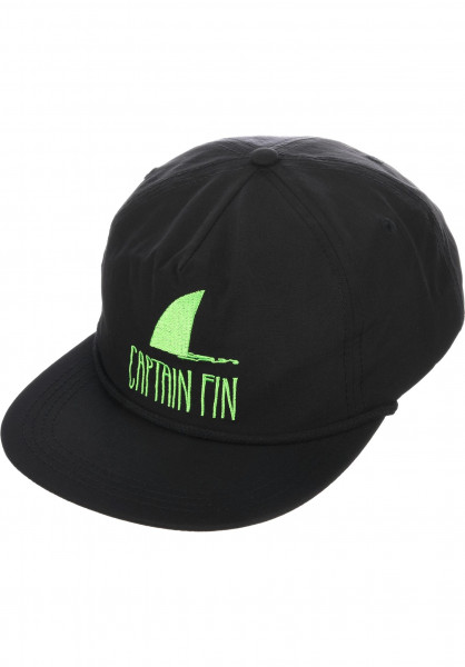 Captain Fin Caps Shark Fin black-green Vorderansicht