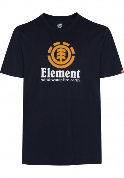 Element T-Shirts Vertical eclipsenavy-orange Vorderansicht