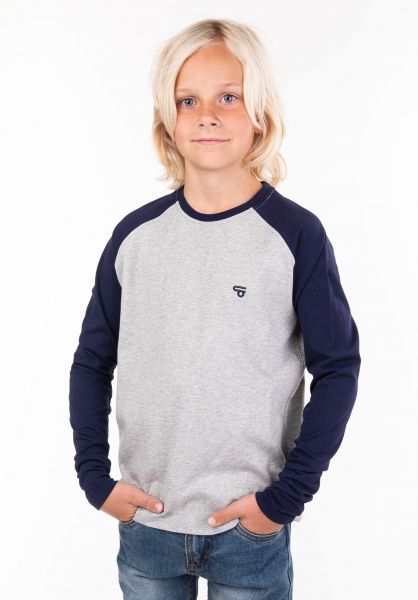 TITUS Longsleeves Rag Kids heathergrey-navy vorderansicht 0381852