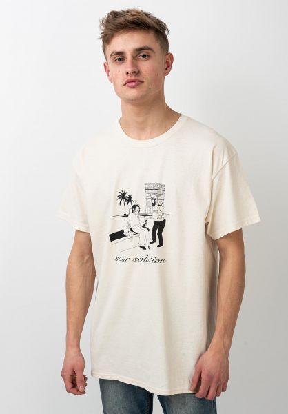 Sour Solution T-Shirts In Barcelona sourcream vorderansicht 0321291