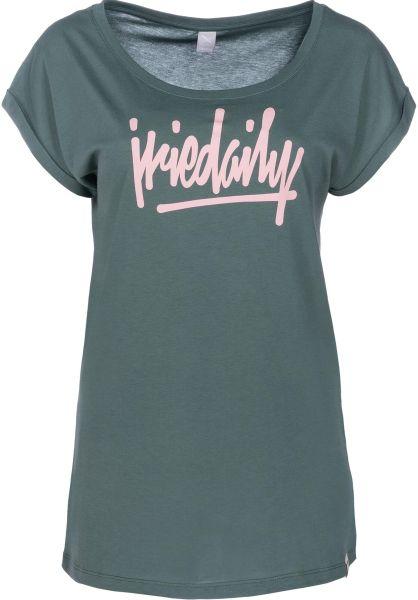 iriedaily T-Shirts Taggety darkberyl vorderansicht 0399177