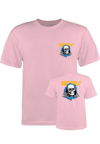 Powell-Peralta T-Shirts Ripper Kids pink Vorderansicht