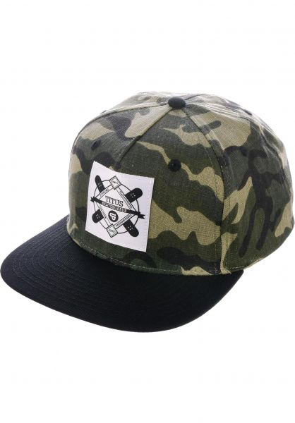 TITUS Caps Emblem Snapback camouflage-black vorderansicht 0564855