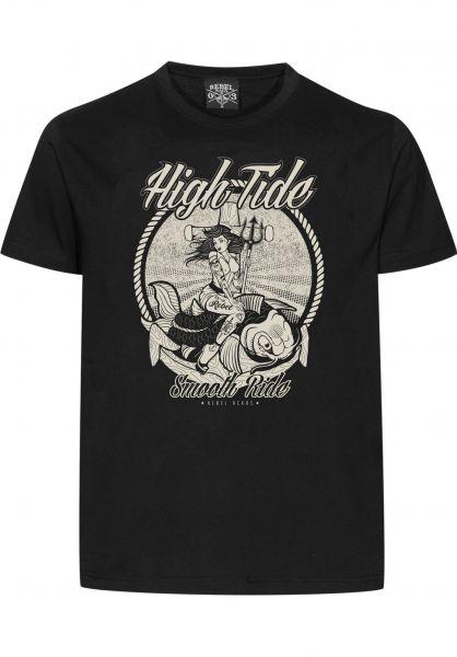 Rebel Rockers T-Shirts Tide black Vorderansicht