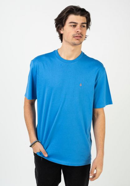Volcom T-Shirts Stone Blanks ballpointblue vorderansicht 0321558