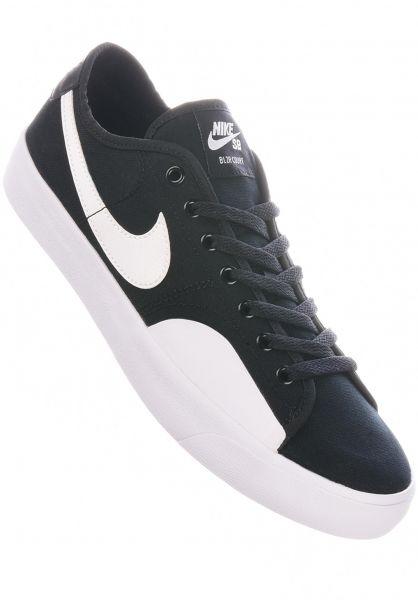 Nike SB Alle Schuhe Blazer Court black-white vorderansicht 0604954