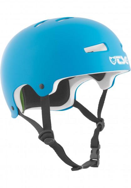 TSG Helme Evolution Solid Colors satin dark cyan-white EPS Vorderansicht