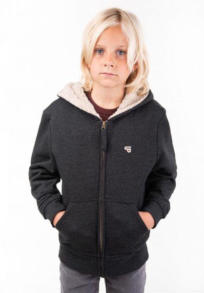 TITUS Zip-Hoodies Centerfold Bruno Kids darkgreymottled vorderansicht 0454509