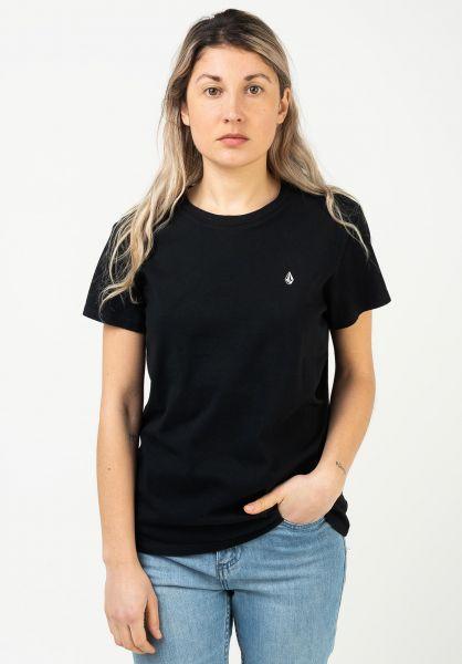Volcom T-Shirts Stone Blanks Wmn black vorderansicht 0322927