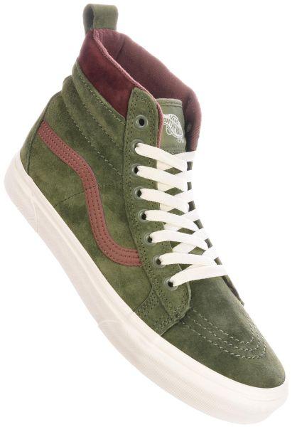 Vans Alle Schuhe Sk8-Hi MTE deeplichengreen-rootbeer vorderansicht 0603565