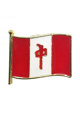 Red-Dragon Flag Pin