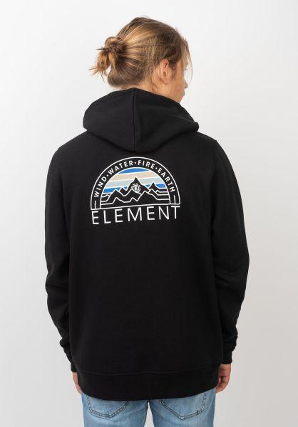 Element Hoodies Odyssey flintblack vorderansicht 0445495