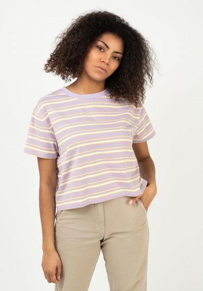 TITUS T-Shirts Mariell lavender-striped vorderansicht 0322077