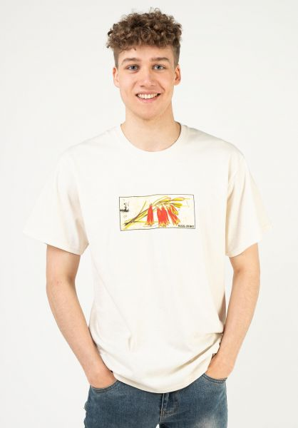 Passport Skateboards T-Shirts Tin Floral natural vorderansicht 0324205