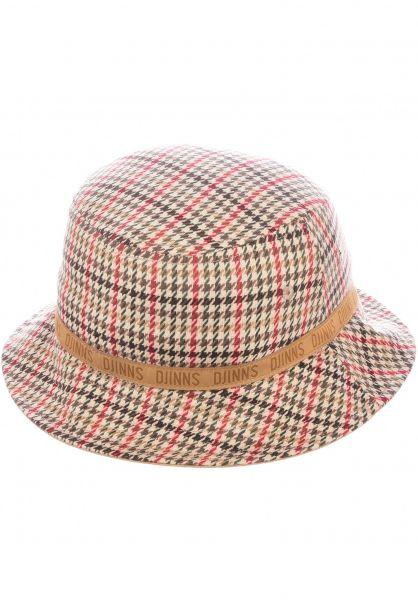 Djinns Hüte Bucket Hat Cockkicks red-grey vorderansicht 0580424