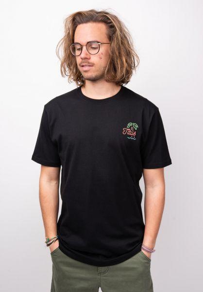 TITUS T-Shirts Neon-Backprint black vorderansicht 0398381