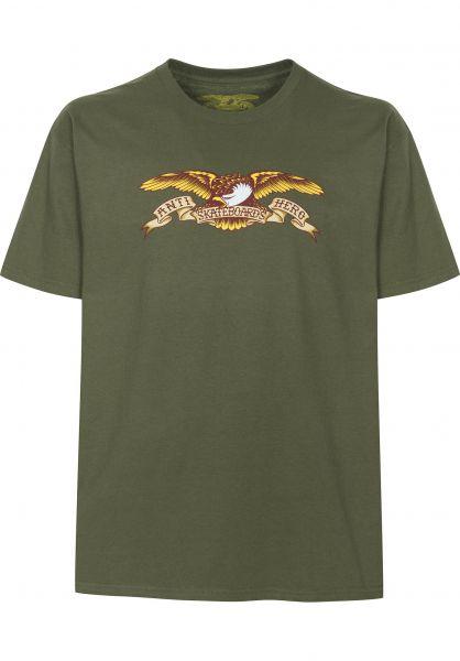 Anti-Hero T-Shirts Eagle military-green Vorderansicht