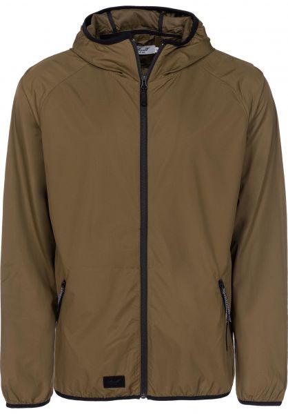 Reell Übergangsjacken Pack Logo Jacket olive Vorderansicht