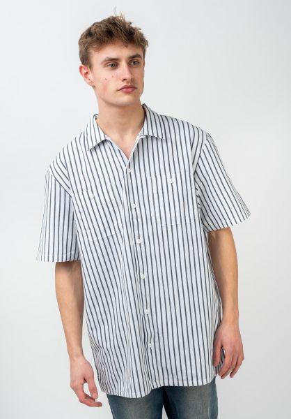 Vans Hemden kurzarm Rowan Workwear Stripe white-dressblues vorderansicht 0400976