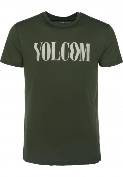 Volcom T-Shirts Weave darkgreen Vorderansicht