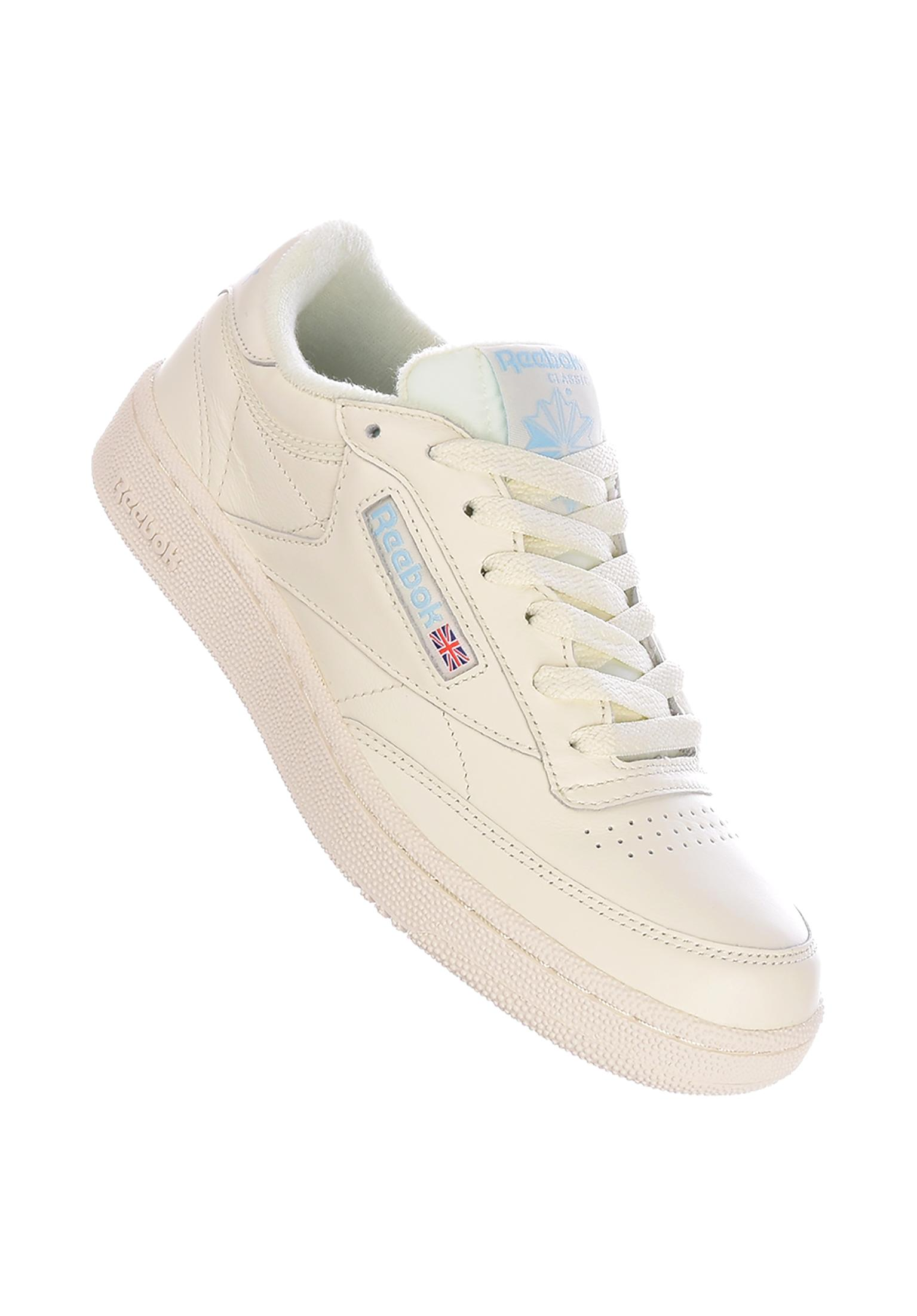 34fd7c4fc77f1 Club C 85 MU Reebok All Shoes in vintage-classic-whitedenim-glow for Women